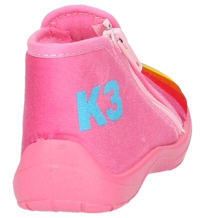 K3 Pantoufles fermées en Rose en textile (202783)