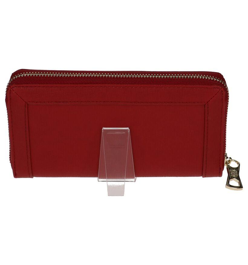 Kisses of Pearl Porte-monnaies à fermeture à glissière en Rouge foncé en simili cuir (233672)