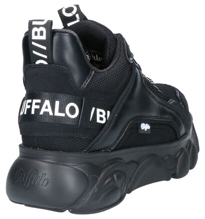 Buffalo Chai Zwarte Sneakers in kunstleer (256914)