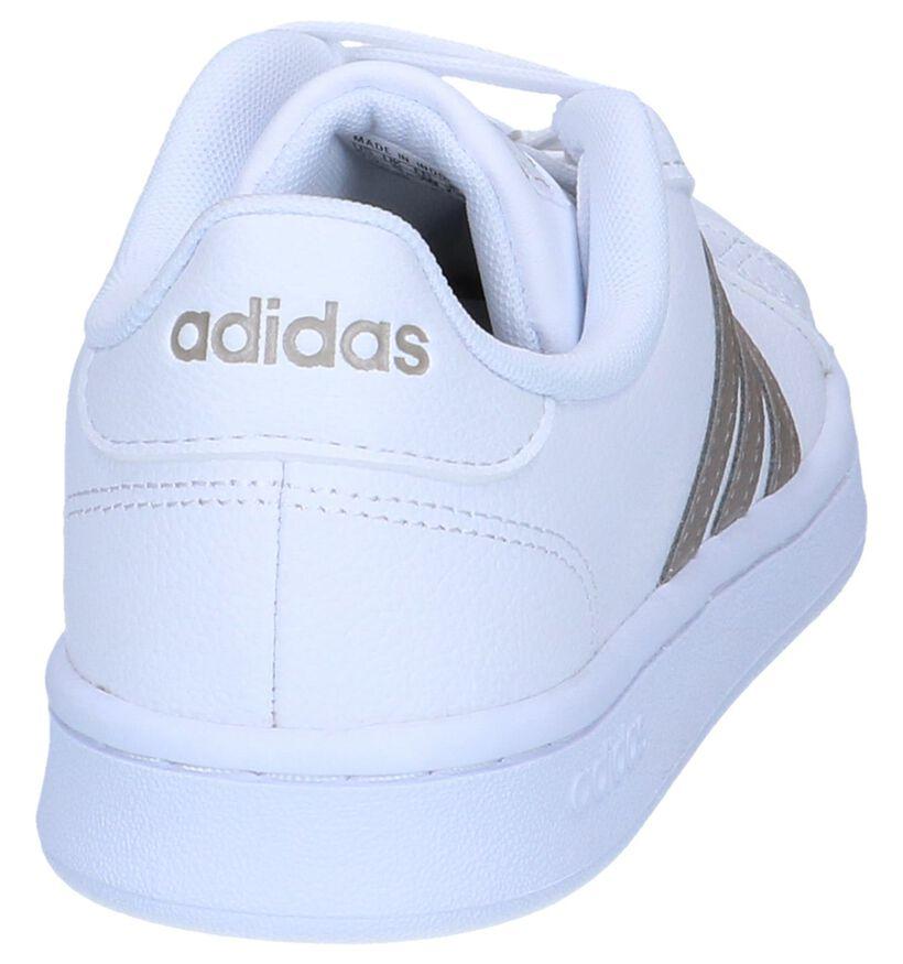 adidas Grand Court Zwarte Sneakers in kunstleer (273824)