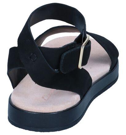 Clarks Sandales plates  (Noir), Noir, pdp