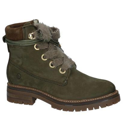 Olijfgroene Boots met Wol Tamaris in daim (226714)