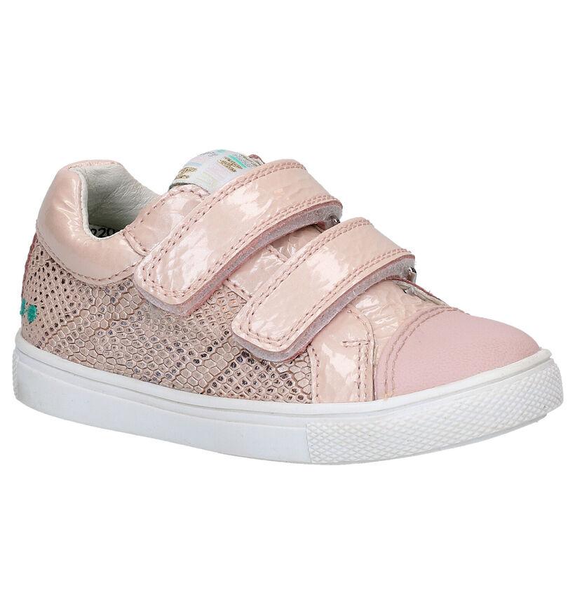 Bunnies Loetje Louw Chaussures à velcro en Blanc en cuir (275277)