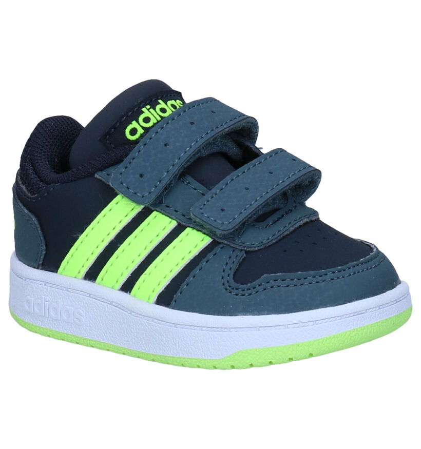 adidas Hoops 2.0 Baskets en Noir en simili cuir (284606)