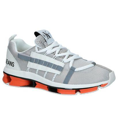 Zilveren Sneakers Calvin Klein Lex in leer (249157)