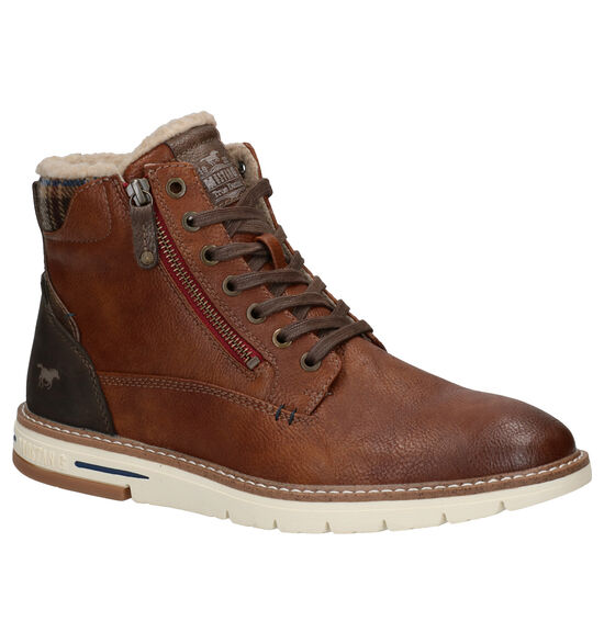 Mustang Cognac Bottines