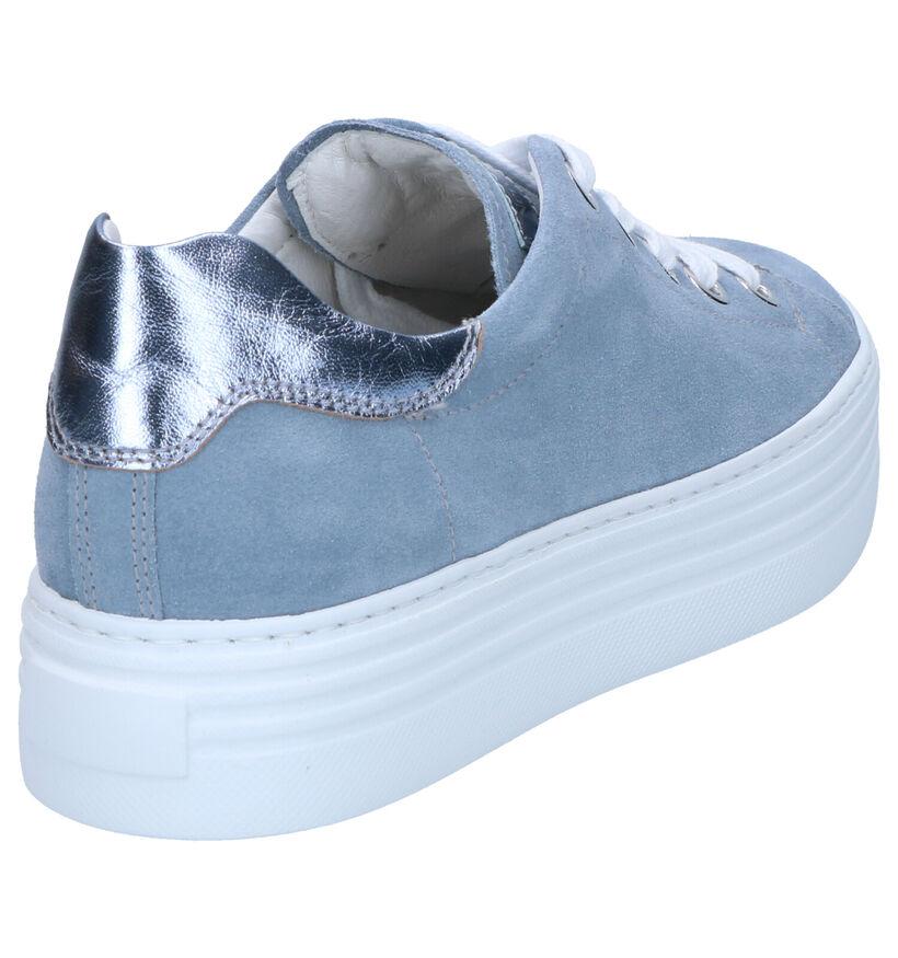 NeroGiardini Blauwe Sneakers in daim (270591)
