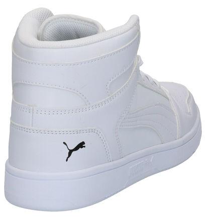 Puma Rebound Layup Baskets en Blanc en imitation cuir (252604)