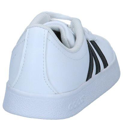 Zwarte adidas VL Court 2.0 Sneakers in imitatieleer (252555)