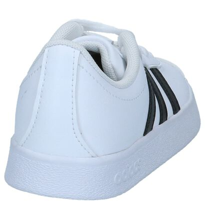 Zwarte adidas VL Court 2.0 Sneakers, Wit, pdp