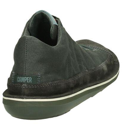 Camper Chaussures slip-on en Gris foncé en textile (193570)