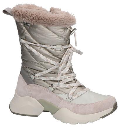 Tamaris Fashletics Beige Snowboots in daim (257103)