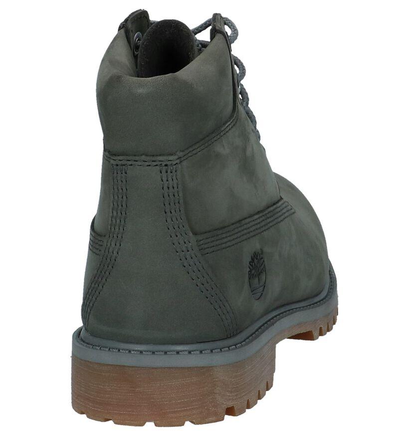 Timberland 6 Inch Premium Waterproof Grijze Boots in nubuck (222375)
