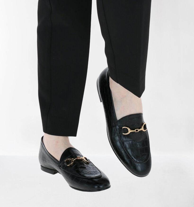 Via Limone Loafers en Noir en cuir (281557)