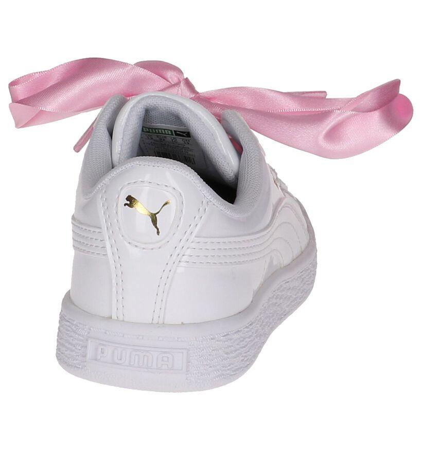 Witte Sneakers Puma Basket Heart Patent in kunstleer (209896)