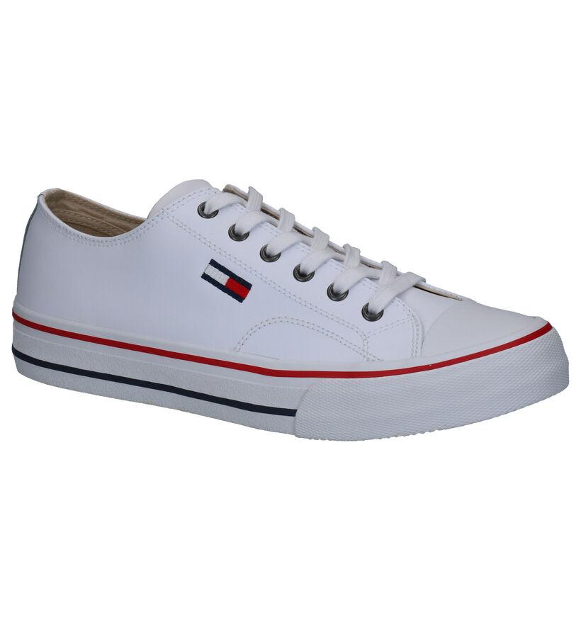 Tommy Hilfiger Leather City Witte Sneakers in kunstleer (264957)