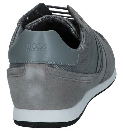 Zwarte Lage Schoen Glaze Low Hugo Boss, Grijs, pdp