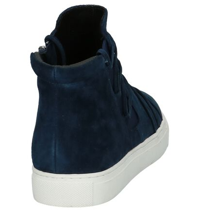 Donker Blauwe Boots Youh! in daim (201213)