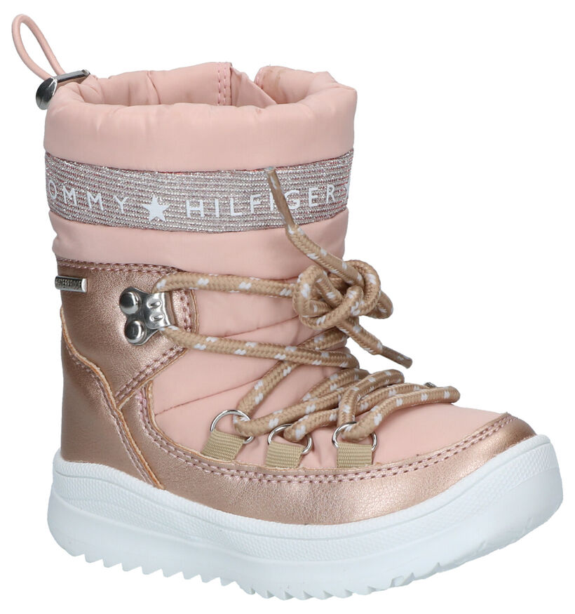 Tommy Hilfiger Roze Snowboots in stof (256957)