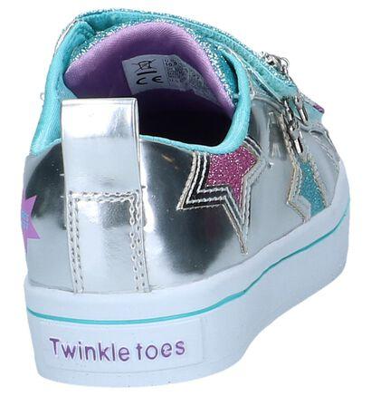 Roze Velcroschoenen Skechers Twinkle Toes, Zilver, pdp