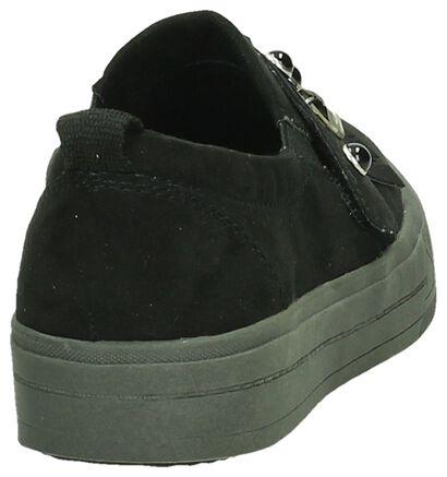 Tamaris Chaussures slip-on en Noir en textile (193114)