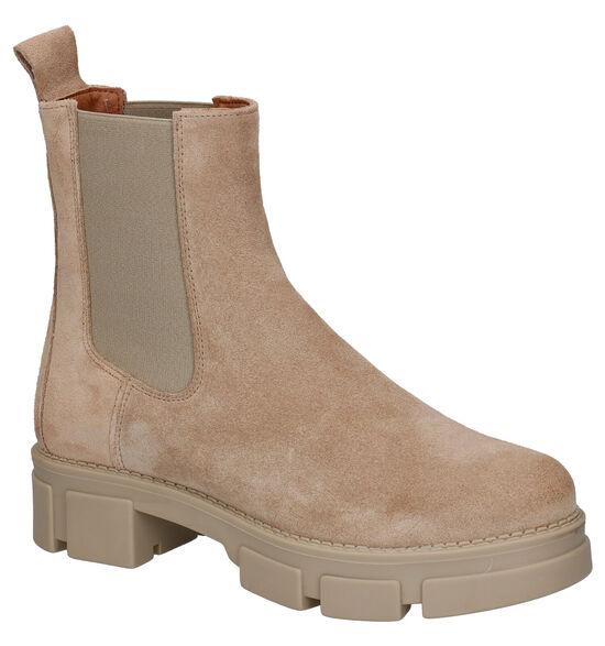 Shoecolate Beige Chelsea Boots