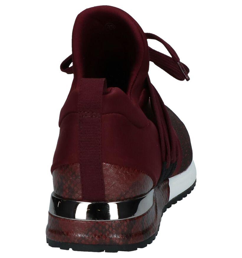 La Strada Baskets slip-on en Bordeaux en textile (229889)