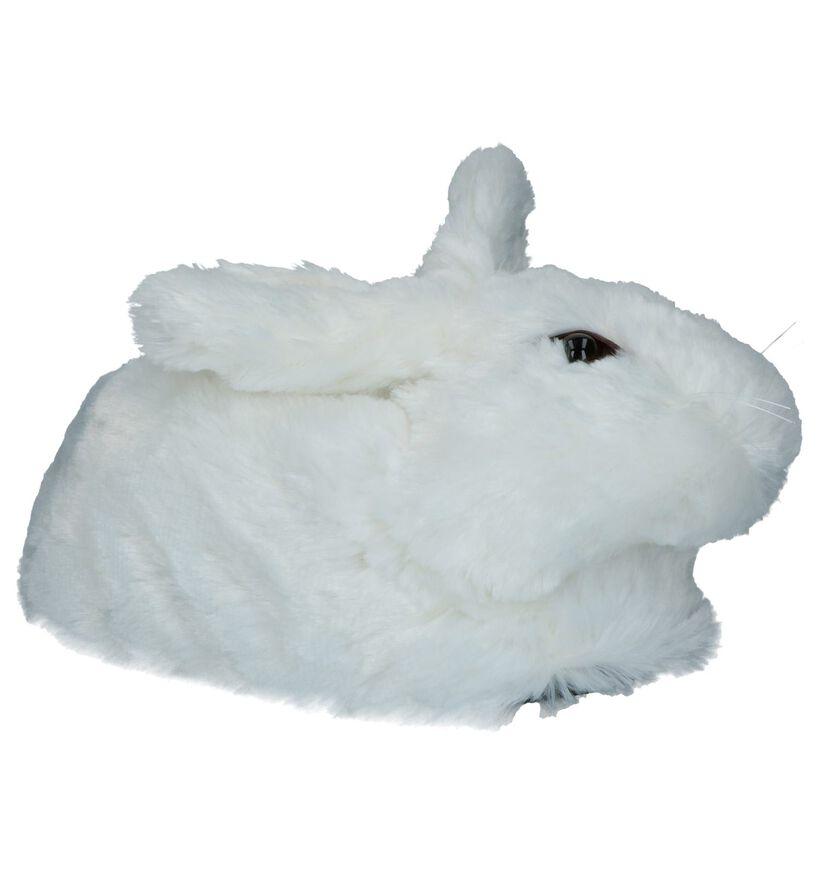 Witte Pantoffels Dazzle Konijn in stof (225810)