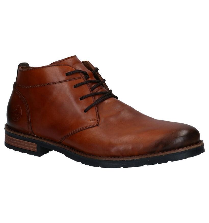Rieker Chaussures à lacets habillées en Cognac en cuir (281732)