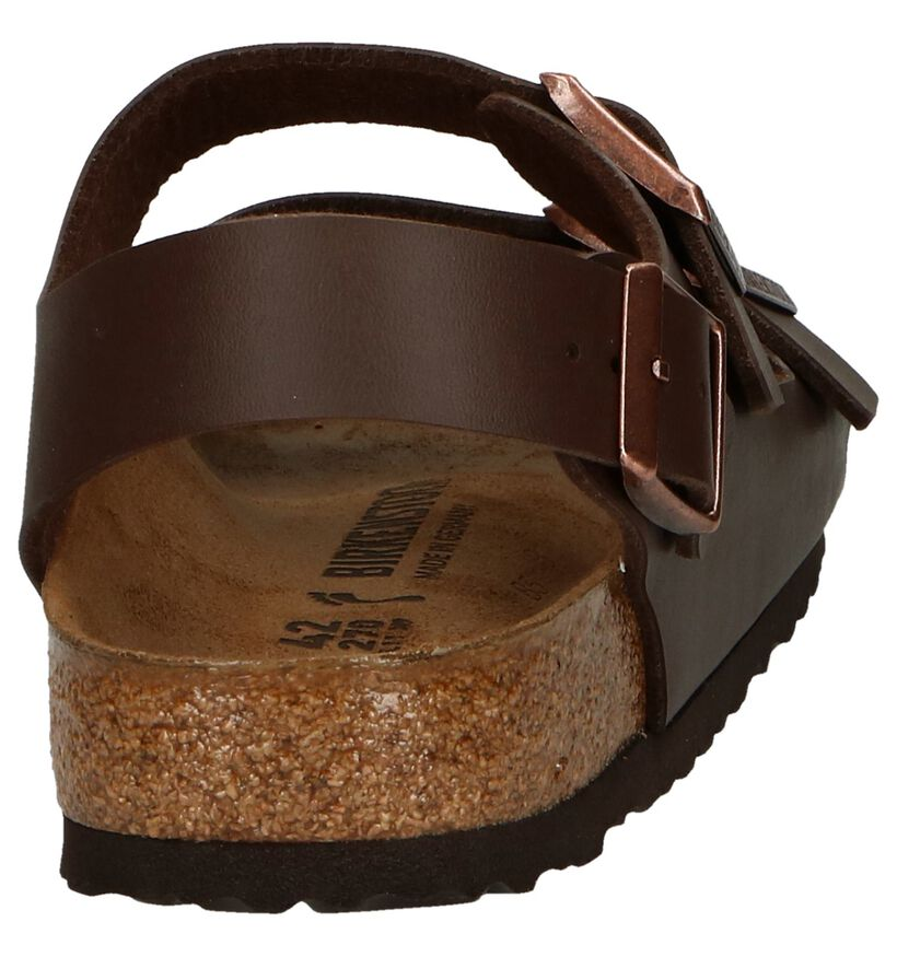 Birkenstock Milano Sandales en Marron en simili cuir (271228)