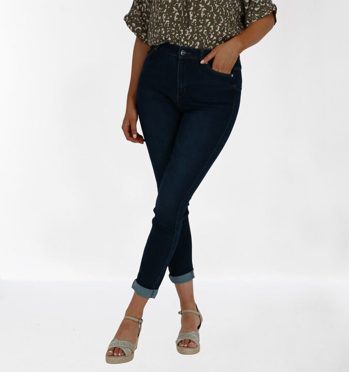 comma Blauwe Skinny Fit Jeans