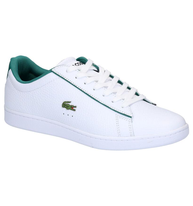 Lacoste Carnaby Evo Witte Sneakers in leer (266918)
