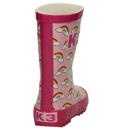 K3 Rainbow Roze Regenlaarzen in kunststof (193642)