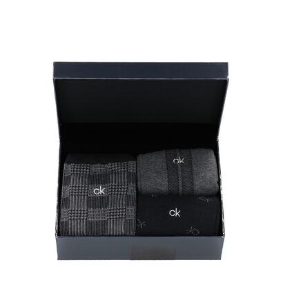 Calvin Klein Grijze/Zwarte Sokken - 3 Paar (255636)