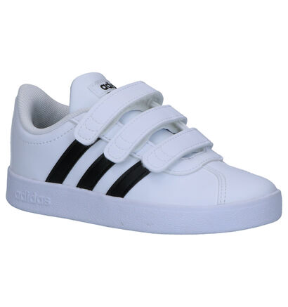 adidas VL Court 2.0 Witte Sneakers in kunstleer (264970)