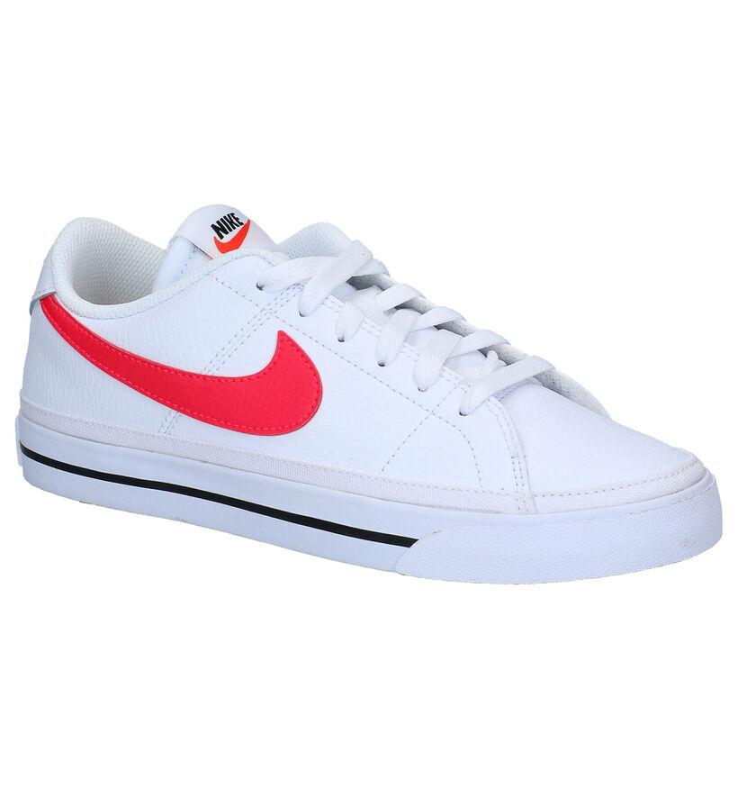 Nike Court Legacy Baskets en Blanc en cuir (284561)