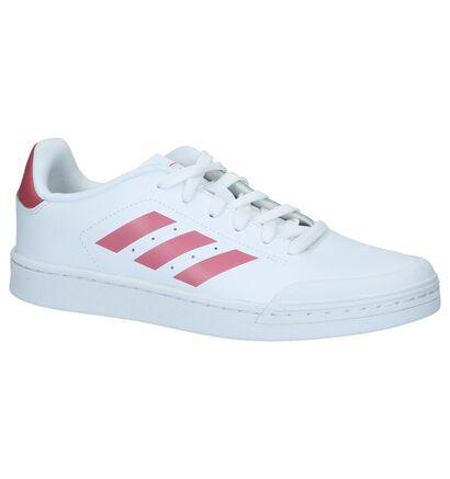 Witte Sneakers adidas Court in kunstleer (221631)