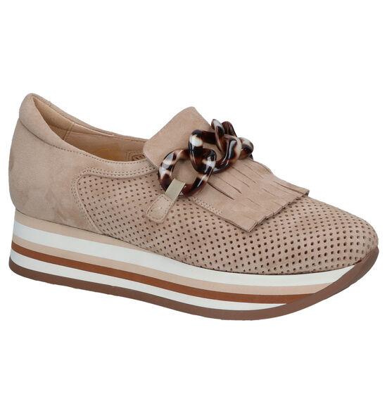 Softwaves Beige Loafers