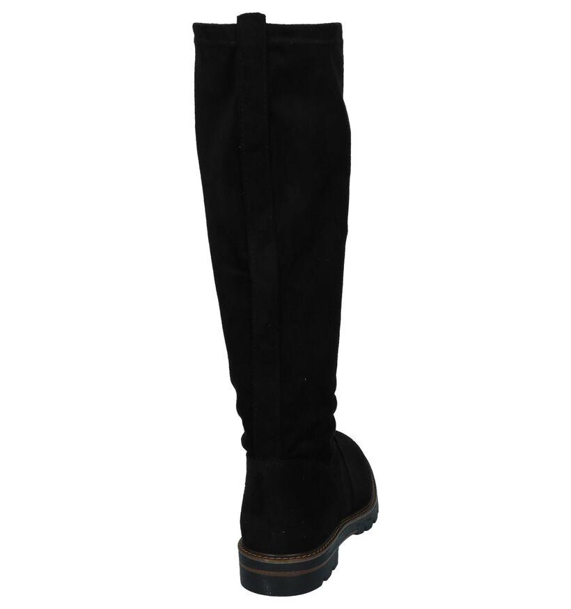 Zwarte Soklaarzen Marco Tozzi in stof (226320)