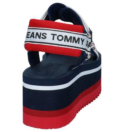 Tommy Jeans Sandales à talons en Bleu foncé en textile (221463)