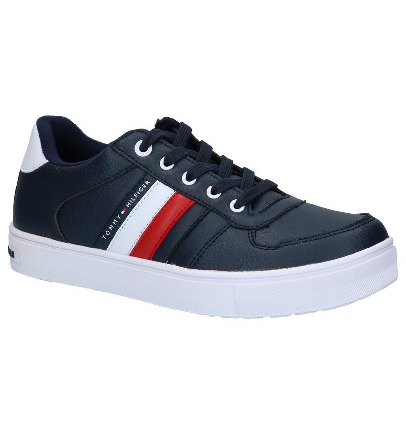 Tommy Hilfiger Blauwe Sneakers in kunstleer (279873)