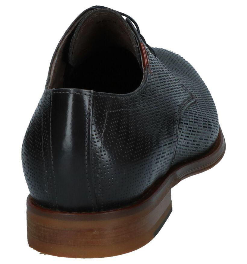 Via Borgo Chaussures habillées en Gris foncé en cuir (242653)