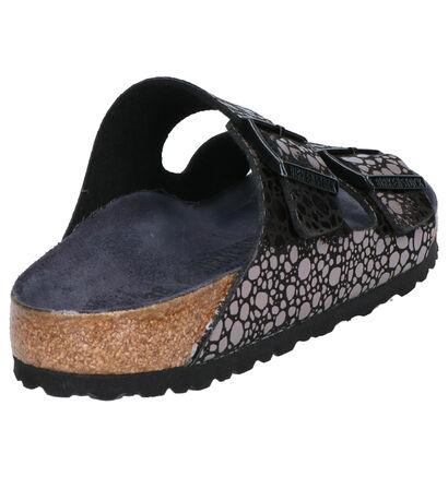 Birkenstock Arizona Nu-pieds plates en Écru en simili cuir (242502)