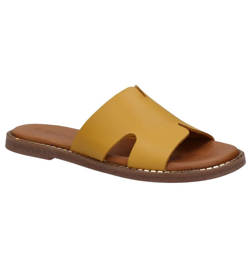 Tamaris TOUCH it Nu-pieds en Jaune en cuir (270154)