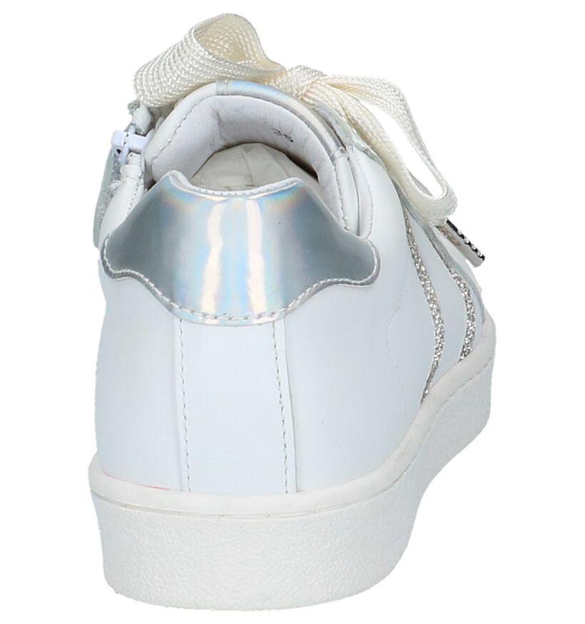 Little David Baskets basses en Blanc en cuir (217959)