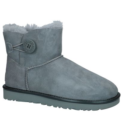 Geklede Boots Grijs UGG Mini Bailey Button in daim (200150)