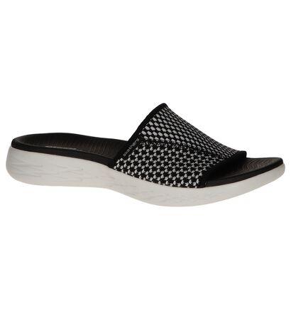 Zwart/Witte Slippers Skechers On-The-Go, Zwart, pdp