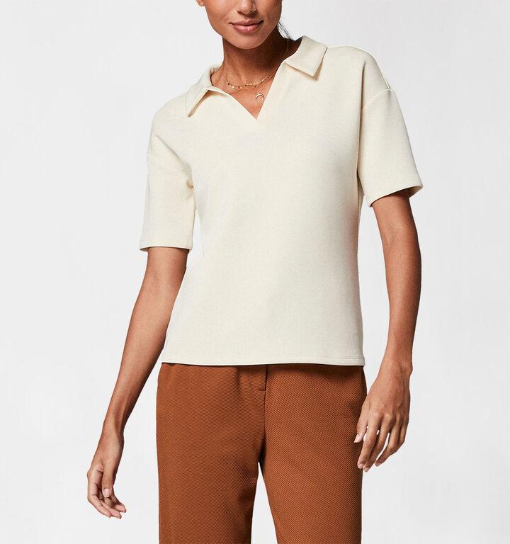 comma Ecru Polo Shirt