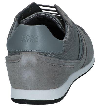 Hugo Boss Glaze Low Chaussures à lacets en Noir en cuir (264774)