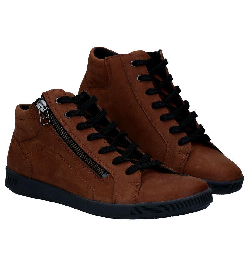 Mirel Chaussures à lacets en Cognac en nubuck (279853)